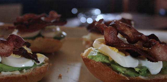 Avocado, Bacon, and Egg Breakfast Sandwich